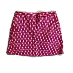 J.CREW skirt stretch polka dot pink white mini